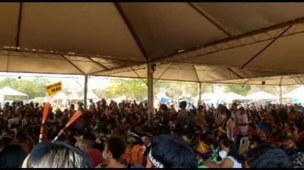 Indígenas acompanham julgamento sobre marco temporal para demarcação de terras
