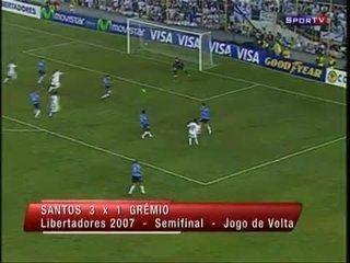 Na Libertadores 2007, Renatinho brilha e comanda vitória do Santos sobre o Grêmio