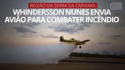 Whindersson Nunes envia avião para combater incêndio na região da Serra da Capivara