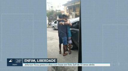 'Posso dizer que é o dia mais feliz da minha vida', diz pai após a soltura de preso por engano no Rio