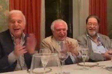Humorista imita Bolsonaro durante jantar em homenagem a Temer em SP
