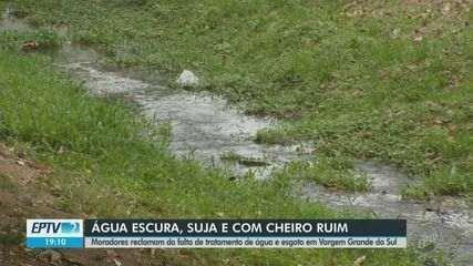 Moradores reclamam da falta de tratamento de água e esgoto em Vargem Grande do Sul