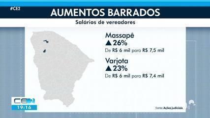 Justiça barra aumento de salário de vereadores e gestores públicos em três cidades