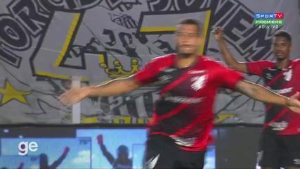 O gol de Santos 0 x 1 Athletico-PR, pelas quartas de final da Copa do Brasil