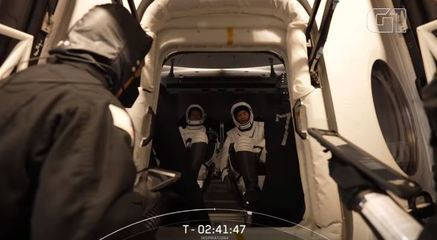Veja como foi a entrada da tripulação da SpaceX na cápsula
