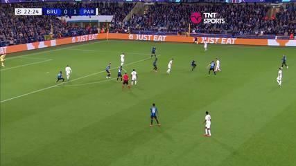 Os melhores momentos de Club Brugge 1 x 1 PSG, pela fase de grupos da Liga dos Campeões