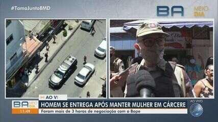 Policial Militar que ajudou na negociação para liberar refém comenta o crime em Salvador
