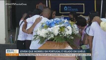 Corpo do jovem que morreu em Portugal é velado em Ilhéus; confira