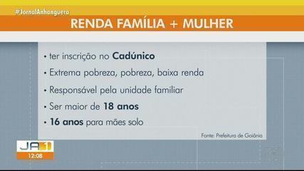 Programa Renda Família Mais Mulher abre período de inscrições em Goiânia; veja como fazer