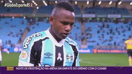 Grêmio ha una notte frustrante all'Arena con un pareggio con Cuiaba