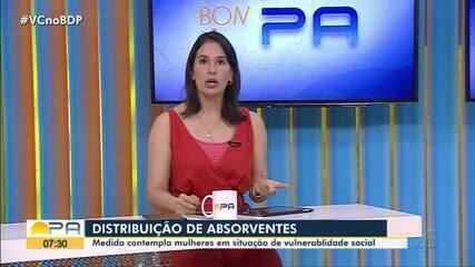 Absorventes serão distribuídos no Pará, diz governo