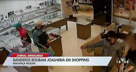 Bandidos roubam joalheria em shopping de Bragança Paulista
