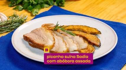 Picanha suína Sadia com abóbora assada: confira a receita fácil