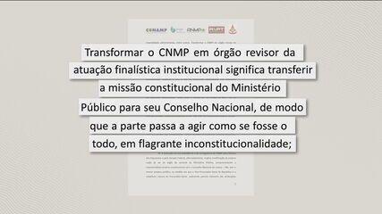 Promotores e procuradores protestam contra PEC que tira autonomia do Ministério Público