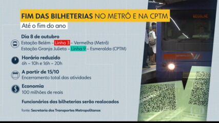 Bilheterias das estações Belém, do metrô, e Granja Julieta, da CPTM, serão desativadas nesta sexta-feira (15)