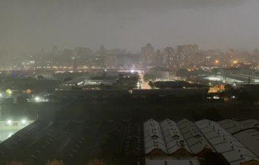 Ventania e chuva forte na Mooca, Zona Leste de SP