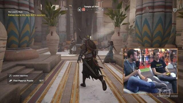 Tiago joga 'Assassin's Creed: Origins' antes do lançamento do jogo