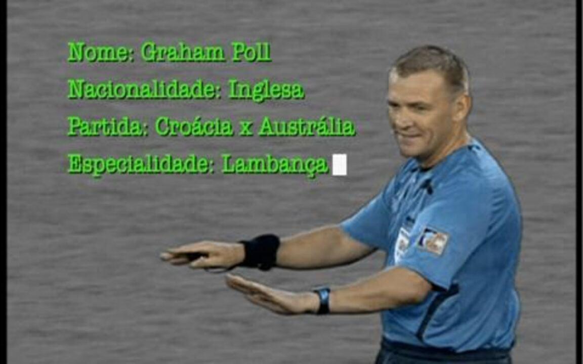 Contos da Copa: árbitro mostra dois cartões amarelos para jogador croata