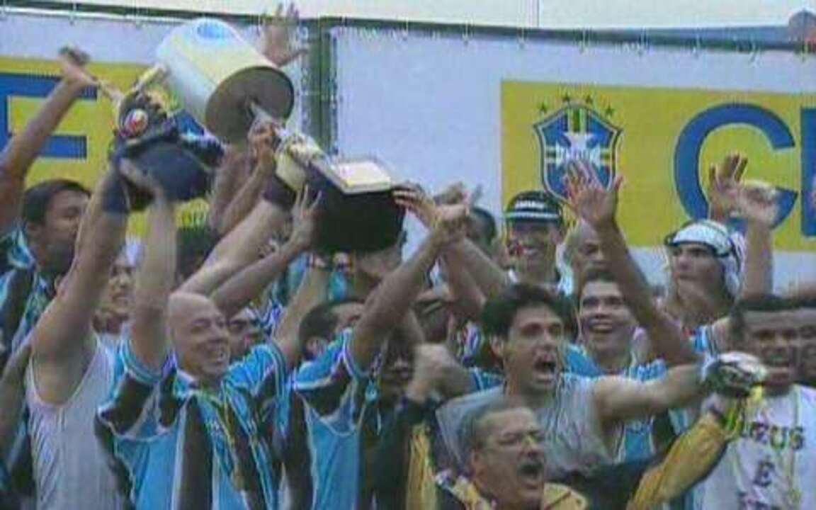 Em 2001, Grêmio conquista o tetra na Copa do Brasil