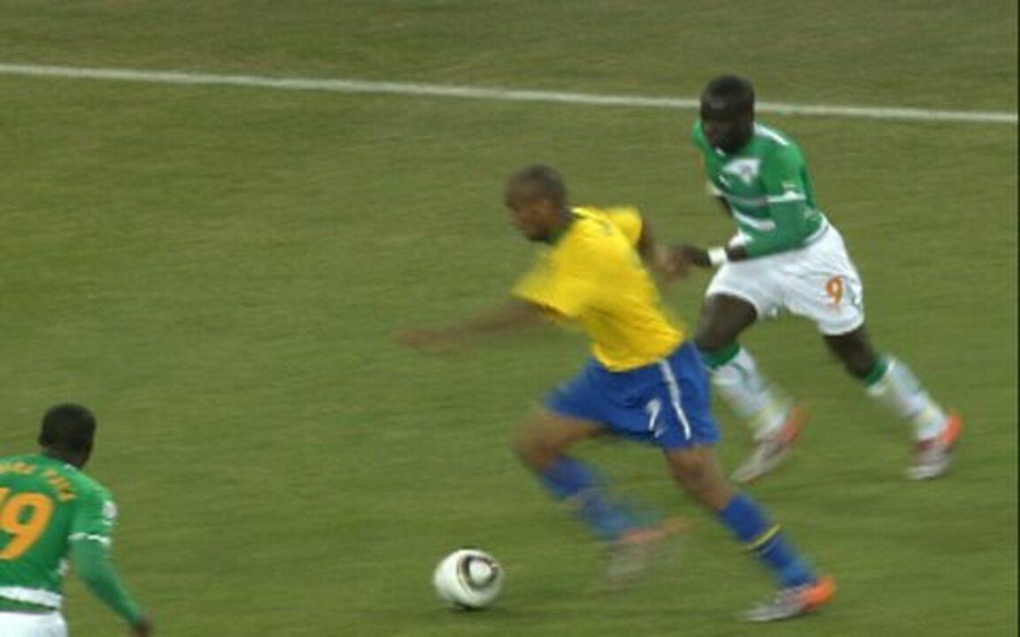 Melhores momentos: Brasil 3 x 1 Costa do Marfim pelo grupo G da Copa do Mundo 2010