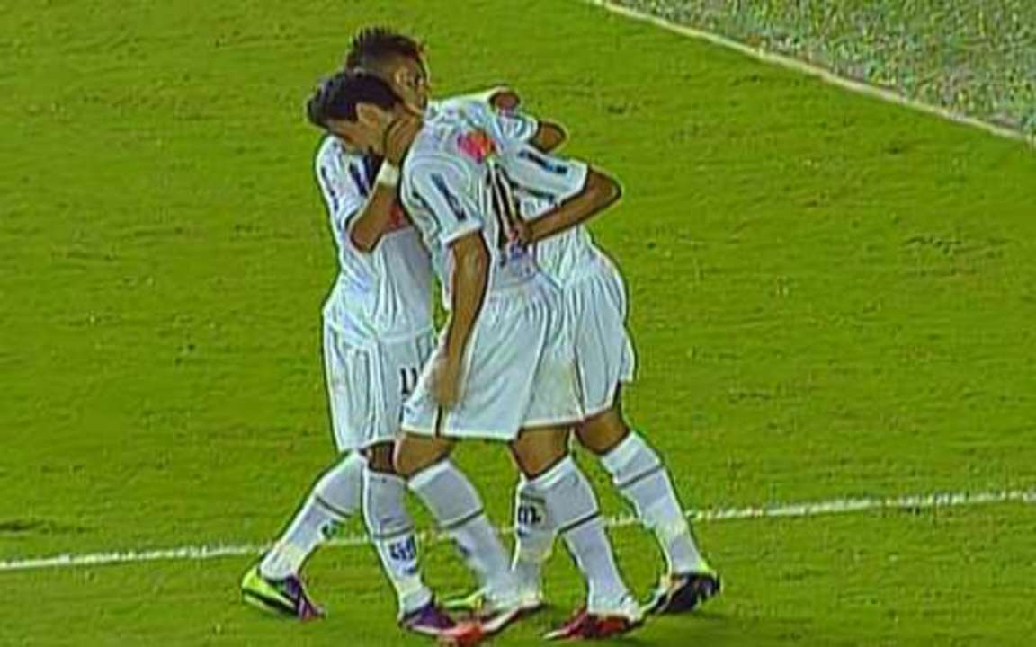 Os gols de Santos 3 x 2 Colo Colo-CHI pela Taça Libertadores 2011