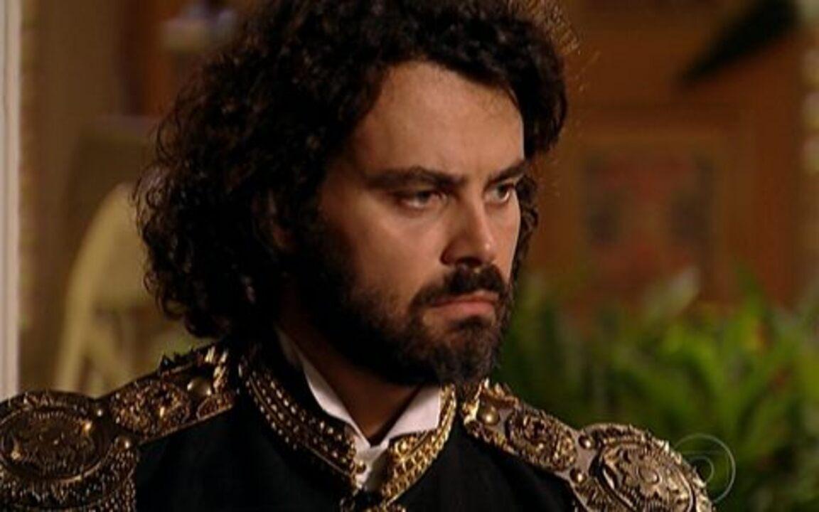 Capítulo de 02/06/2011 - Zenóbio se assusta ao reconhecer Petrus. Açucena e Jesuíno comemoram a publicação de seus proclames para o casamento. Rei Augusto diz que está disposto a tudo para impedir a união da filha.