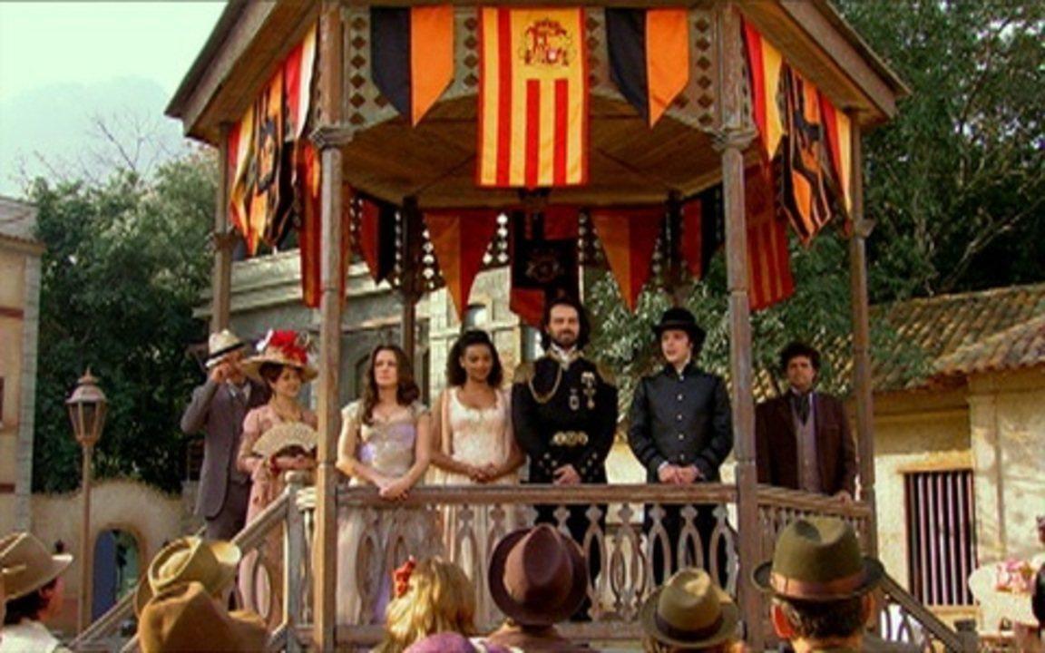 Capítulo de 11/08/2011 - Augusto anuncia ao povo de Brogodó seu casamento com Maria Cesária e a partida com Açucena e Felipe para Seráfia