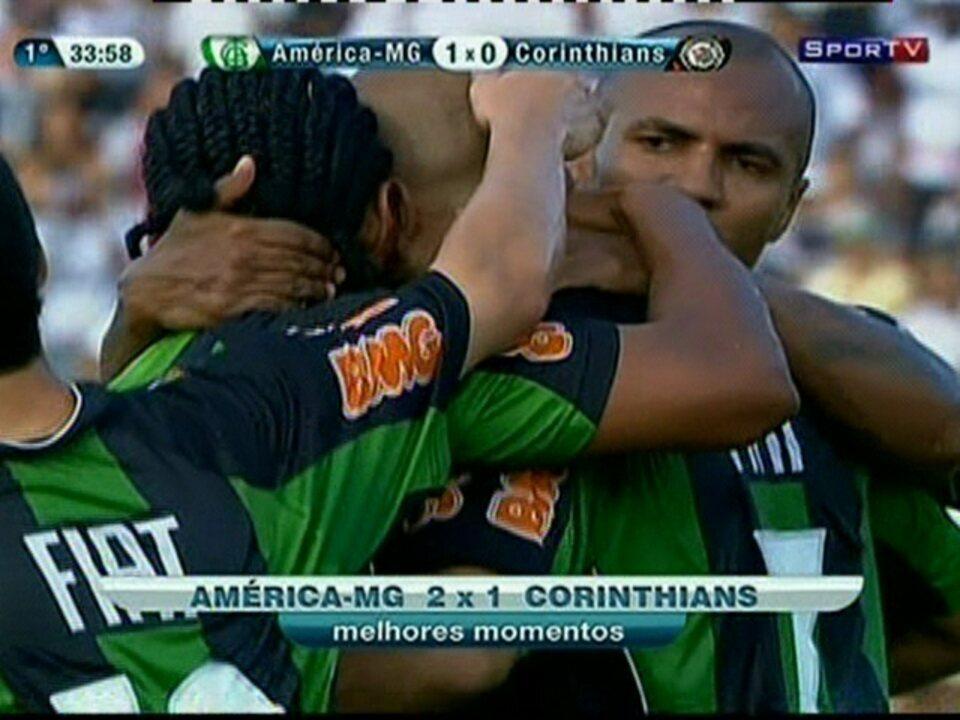 Melhores momentos: América-MG 2 x 1 Corinthians pela 33ª rodada do Brasileirão 2011