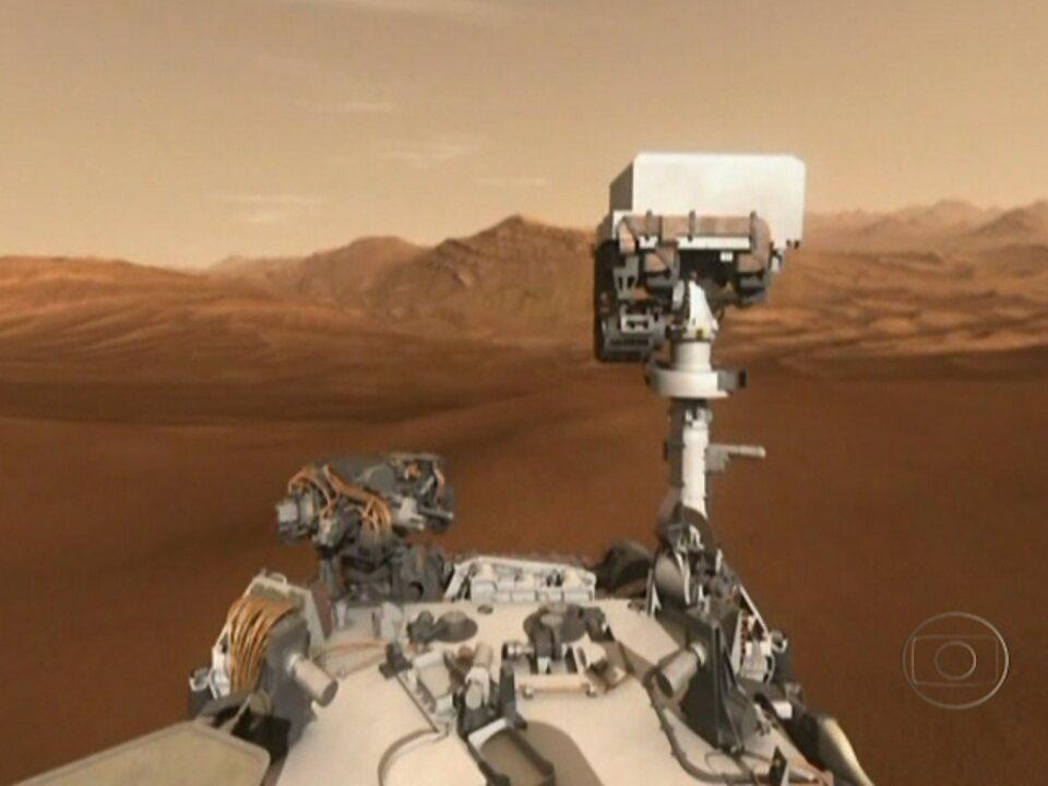 Robô Curiosity aterrissa em Marte