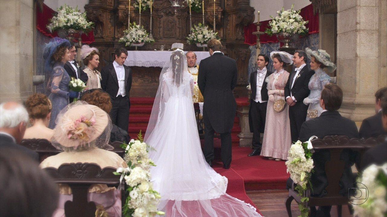 Lado a Lado, capítulo de quinta-feira, dia 13/09/2012, na íntegra - Laura e Edgar se casam