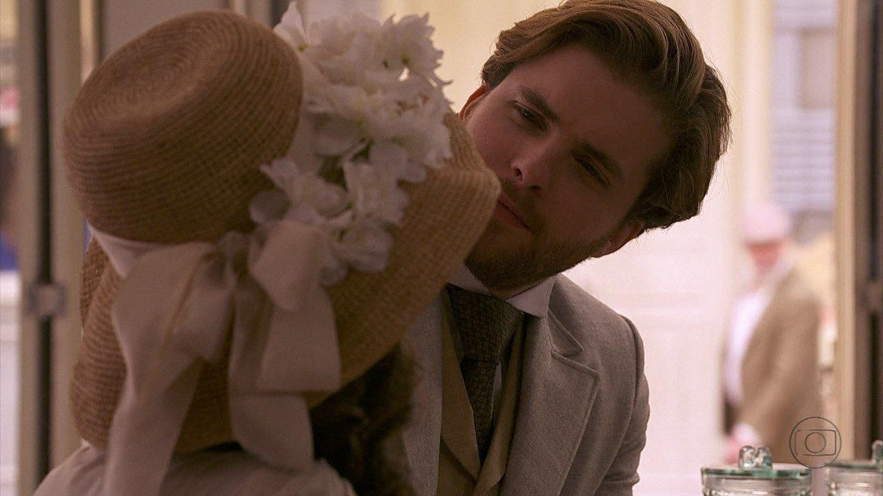 Lado a Lado - Capítulo de quinta-feira, dia 27/09/2012, na íntegra - Constância arma para uma mulher seduzir Edgar