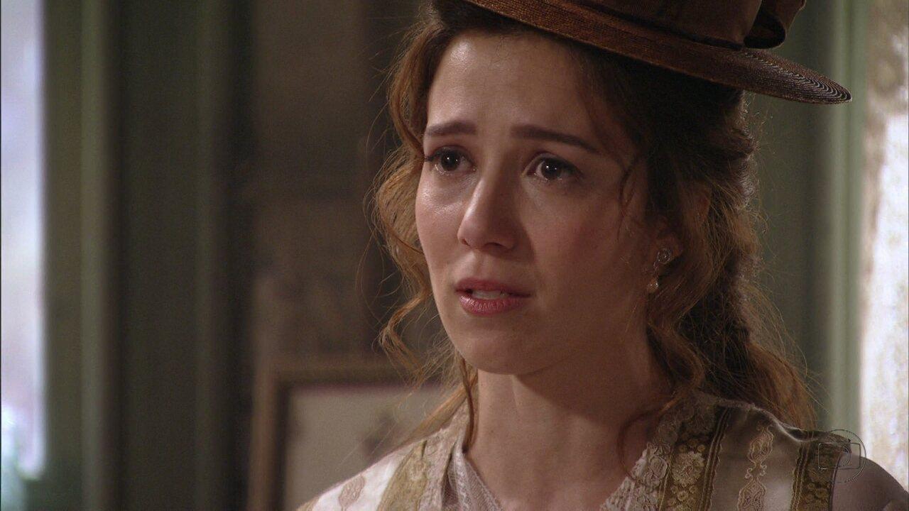 Lado a Lado, capítulo de segunda-feira, dia 15/10/2012, na íntegra - Laura confirma: Albertinho é o pai do filho que Isabel está esperando
