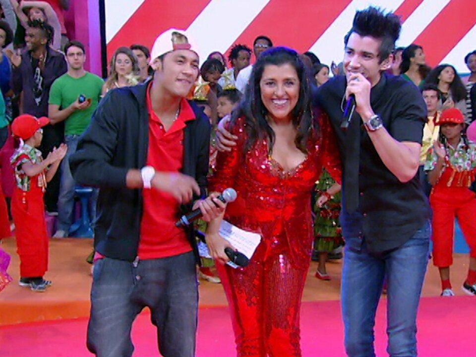 Dupla imbatível, Neymar e Gusttavo Lima cantam no Esquenta!
