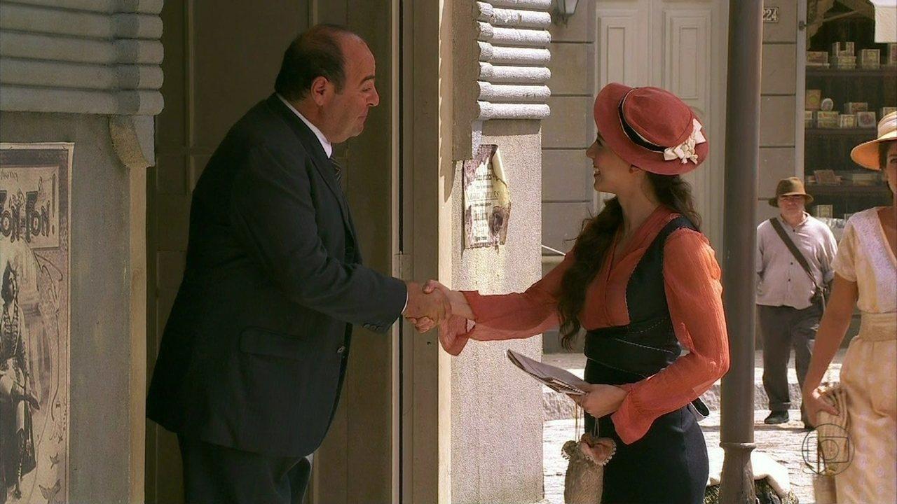 Lado a Lado- capítulo de sexta-feira, dia 28/12/2012, na íntegra - Laura consegue outro emprego