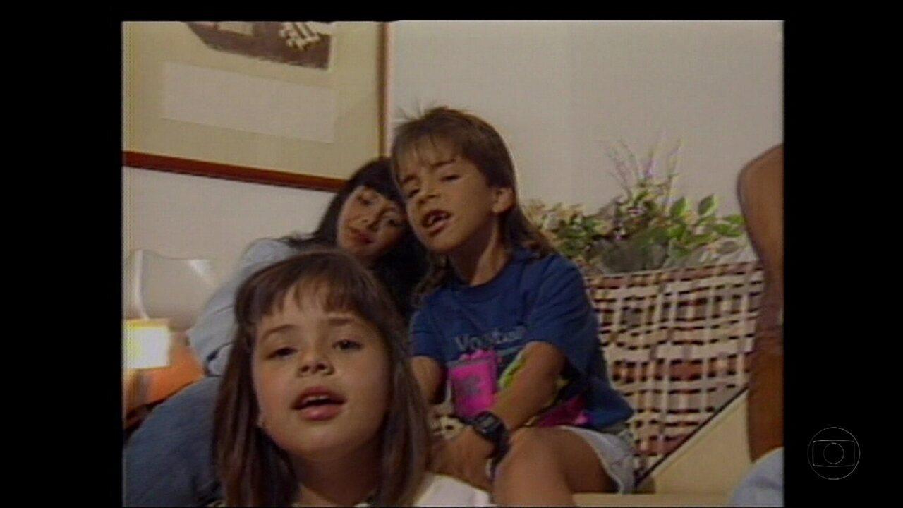 Fátima entrevistou Sandy e Junior em 1990 e Zeca, em 2007