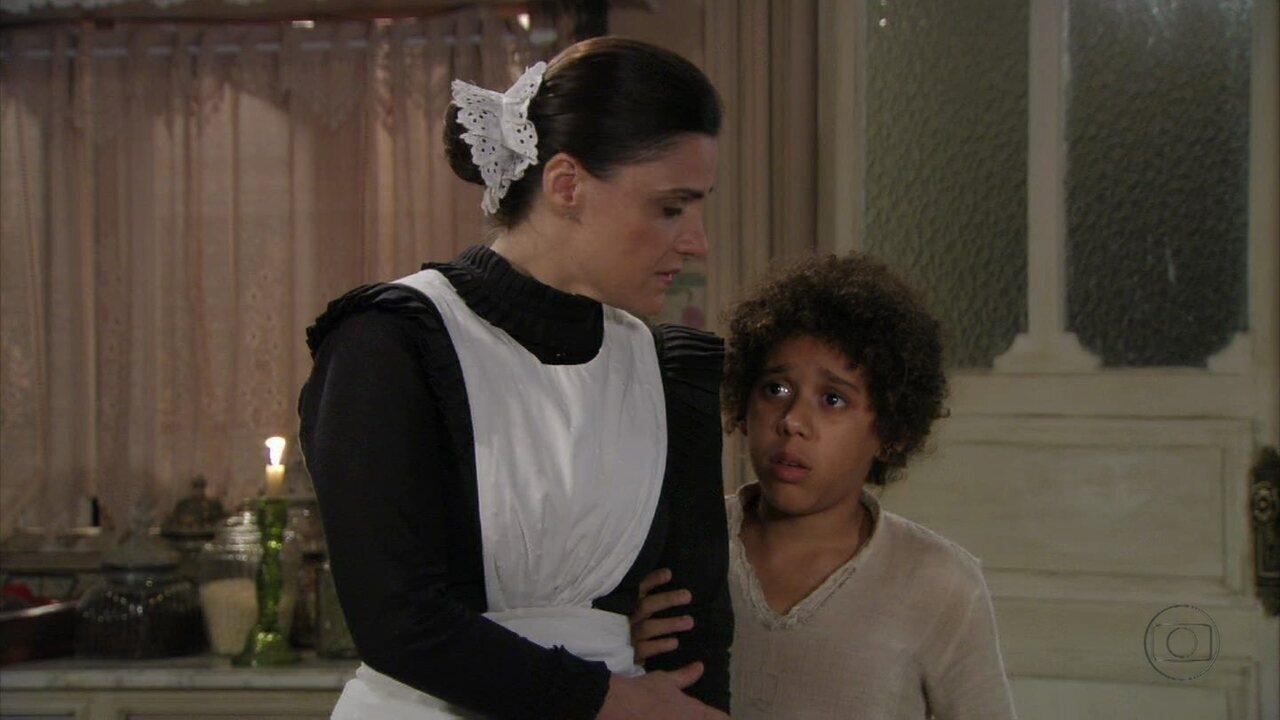 Lado a Lado- capítulo de sexta-feira, dia 18/01/2013, na íntegra - Elias rejeita Isabel e não quer se aproximar da mãe
