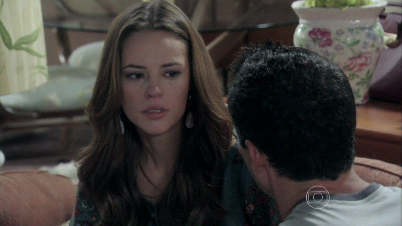 Amor à Vida. Capítulo de sexta-feira, 05/07/2013, na íntegra - Paloma diz a Bruno que é a mãe de Paulinha