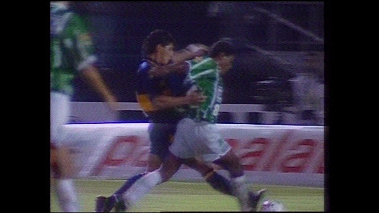 Em 1994, Palmeiras goleia Boca Juniors em 6 a 1 pela Libertadores