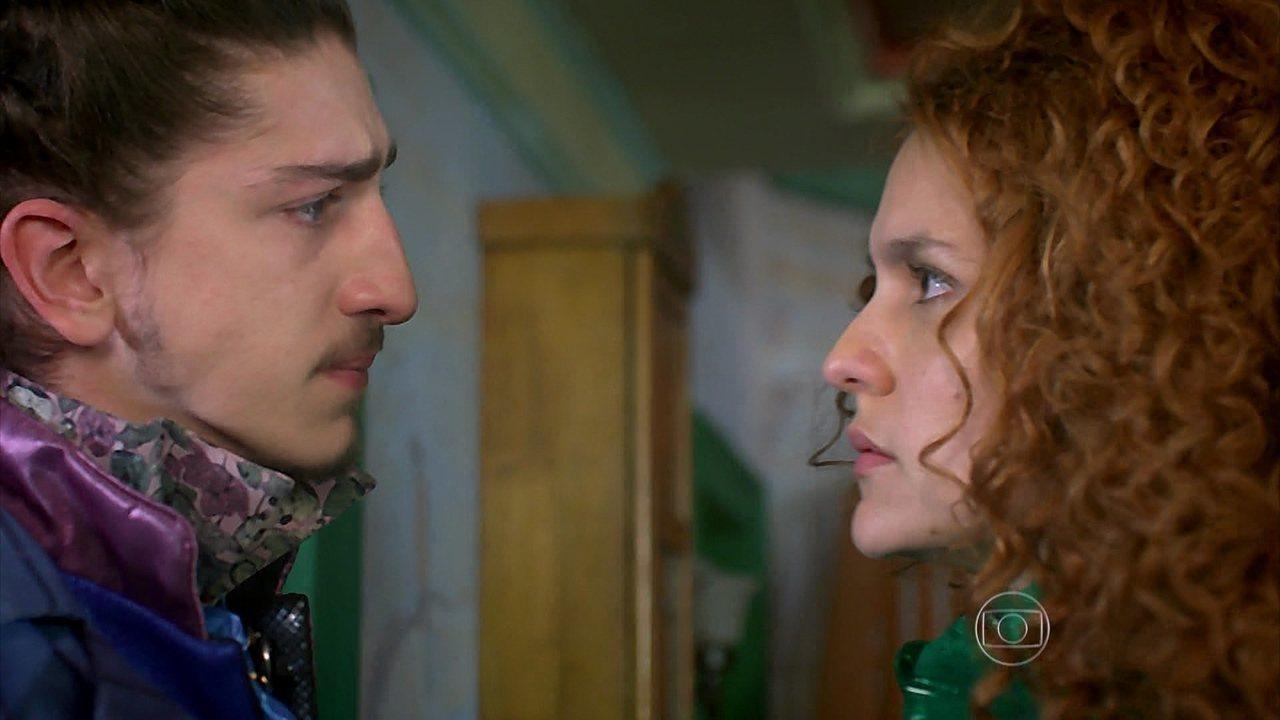 Meu Pedacinho de Chão - capítulo de segunda-feira, dia 07/07/2014, na íntegra - Ferdinando garante a Gina que a ama, mas ela diz que não quer mais vê-lo
