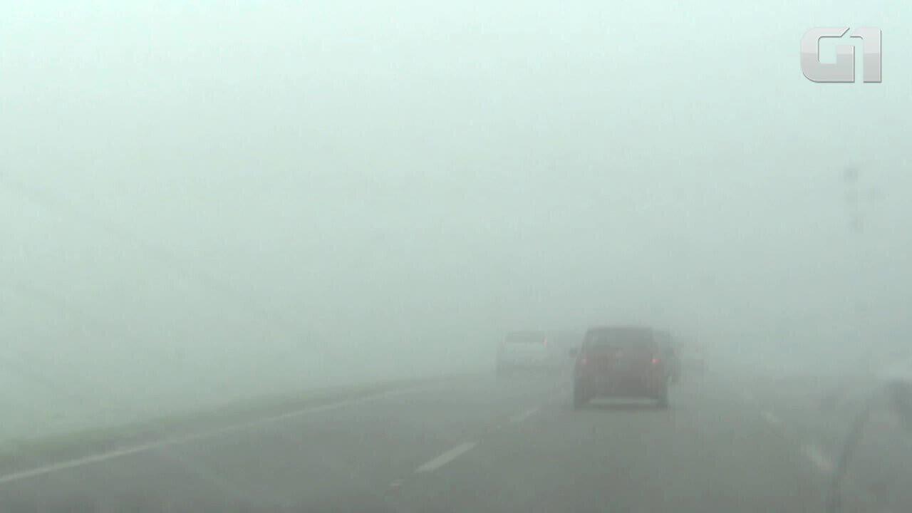 Ao dirigir na neblina, esqueça farol alto e pisca-alerta