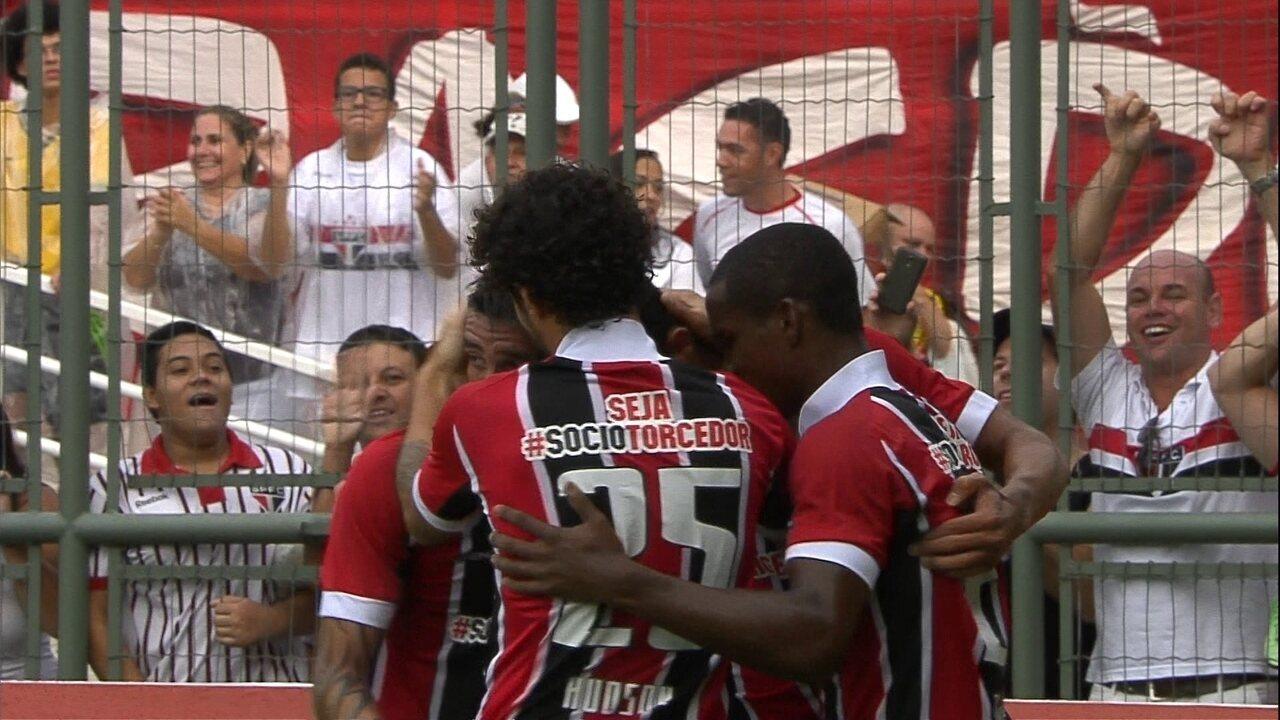 Os gols de Bragantino 0 x 5 São Paulo pela 5ª rodada do Paulistão 2015