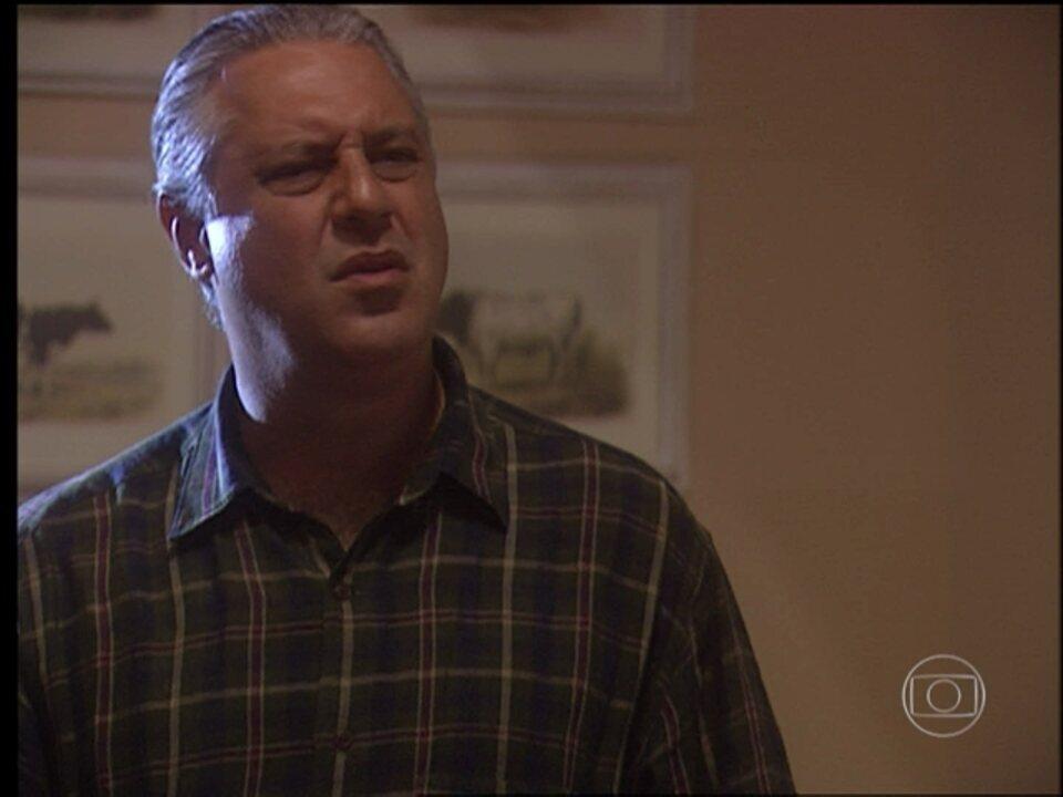 "O Rei do Gado - capítulo de segunda-feira, dia 02/03/15, na íntegra - Bruno lê carta de Luana e descobre que ela se chama ""Marieta Berdinazi"""