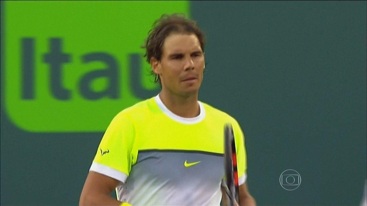 Rafael Nadal é eliminado e Thomaz Bellucci vence no Masters 1000 de Miami
