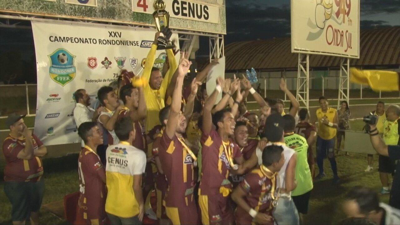 Com bom desempenho de Xuxa, Genus é campeão do Rondoniense 2015