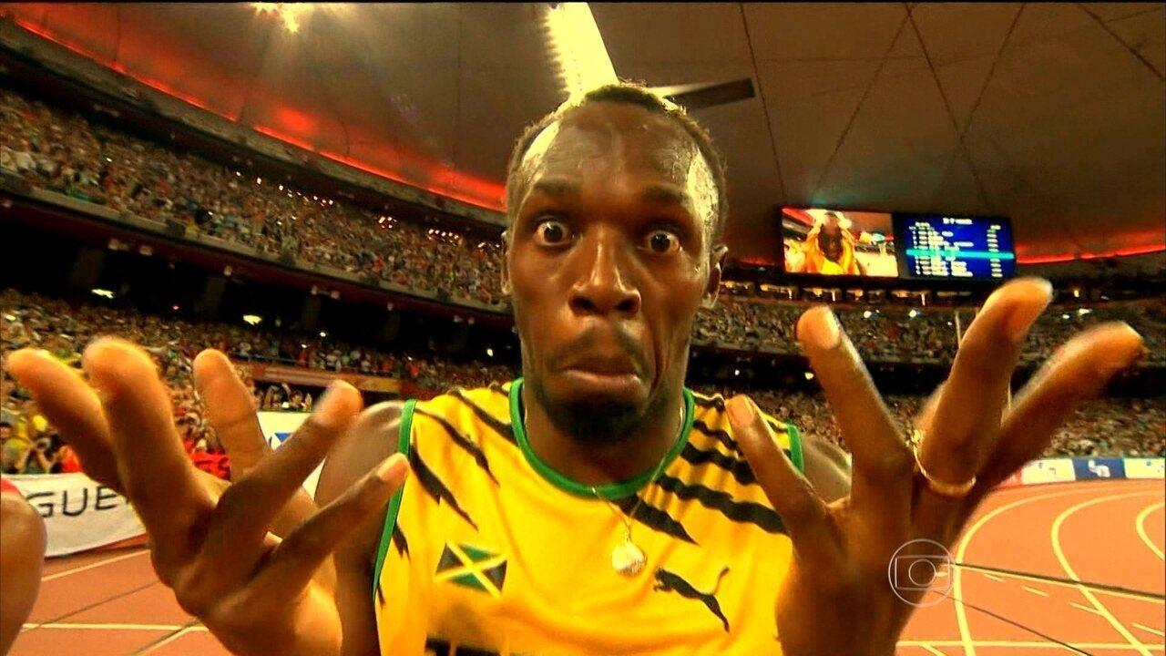 Em Pequim, Usain Bolt vence nos 100m e é tricampeão mundial
