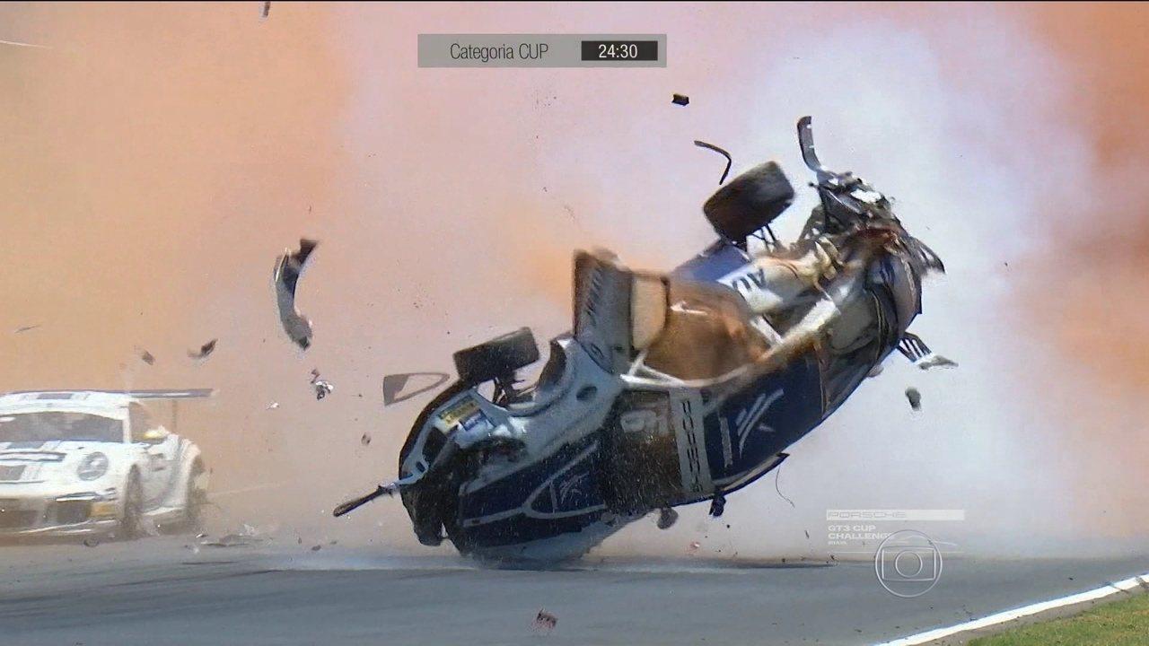Pedro Piquet se envolve em grave acidente em Goiânia