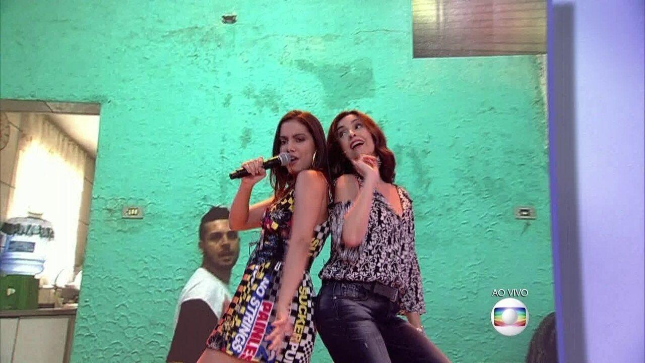 Fátima aceita desafio de Otaviano Costa e dança com Anitta
