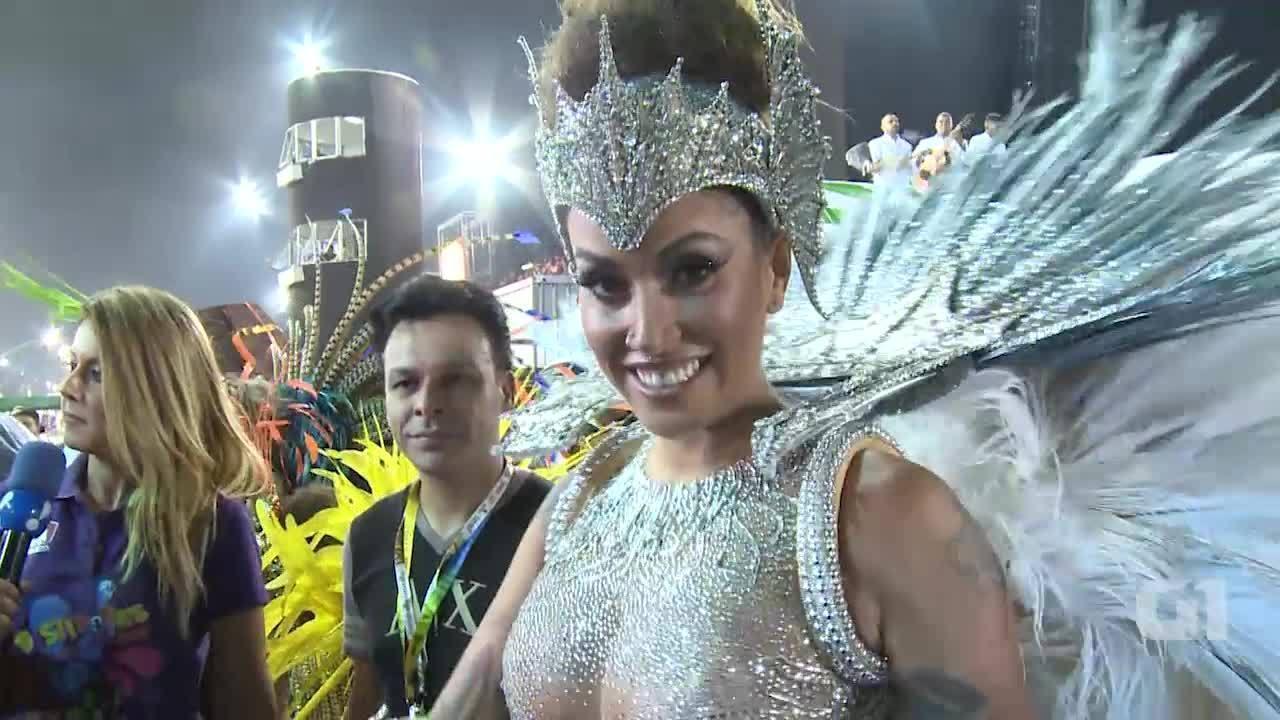 Dani Bolina fala da preparação para desfilar na Unidos de Vila Maria