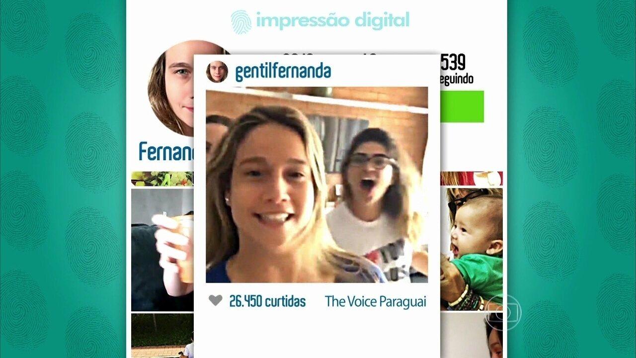 Luciano brincou com o lado divertido de Fernanda Gentil nas redes sociais
