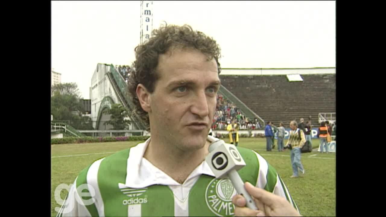 Confira os sete gols que Cuca marcou com a camisa do Palmeiras, em 1992